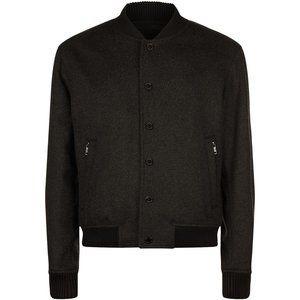 NWOT Hugo Boss Gray Wool-Cashmere Bomber Jacket Size 40R